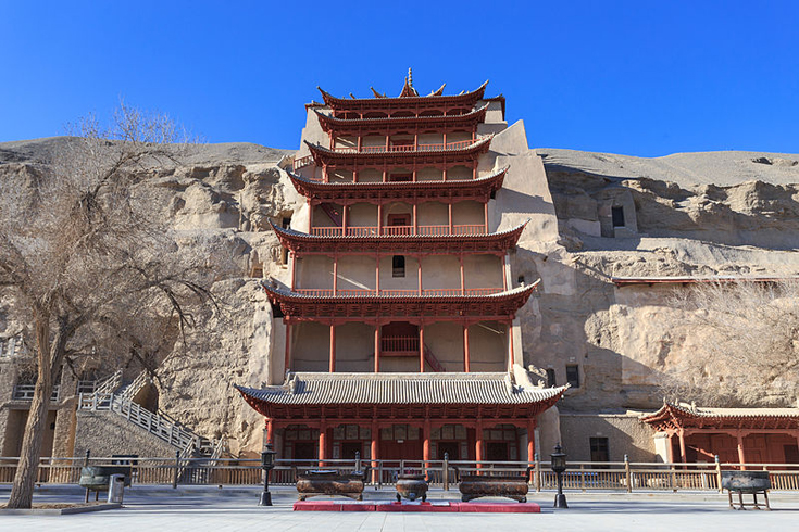 The Mogao Caves in Dunhuang, China