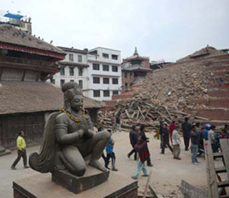 Nepal 's Historic Site after the earthquake photo