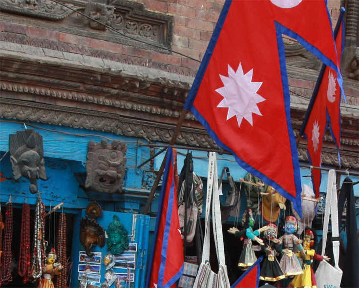 Typical souvenirs shop at Bhaktapur City