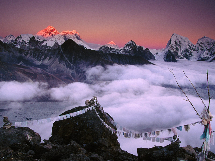 From Everest to Taweche, Himalayas, Nepal