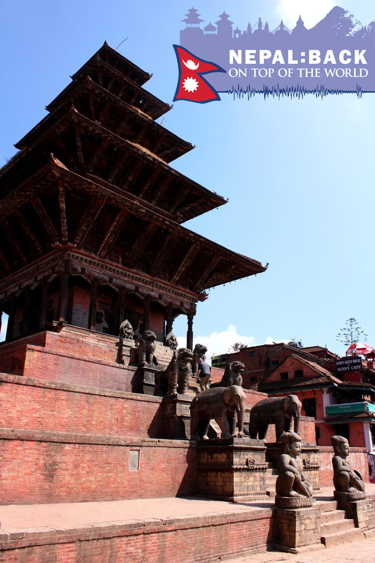 Nyatapola Temple - the largest temple in the bhaktapur durbar square