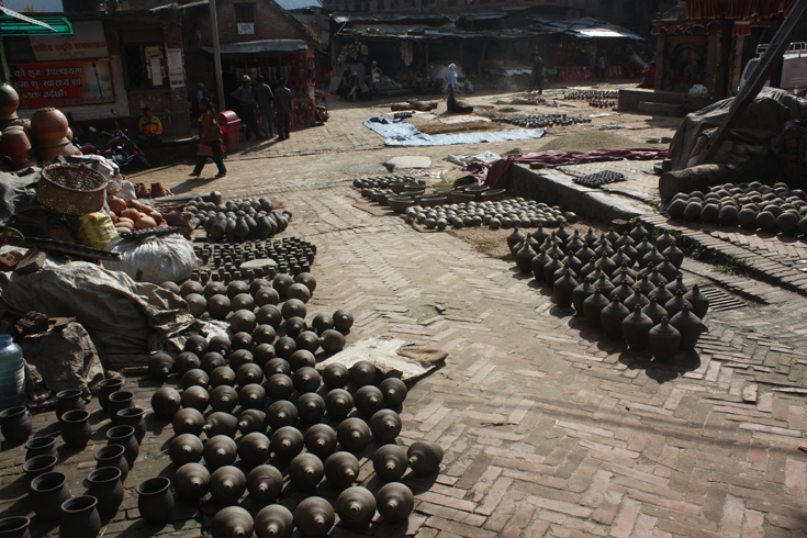 Pottery Square in Bhaktapur, Kathmandu Valley, Nepal