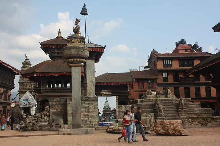 2015 Nepal Earthquake at Bhaktapur Durbar Square