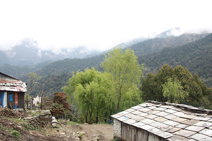 Nepal Village in rural area
