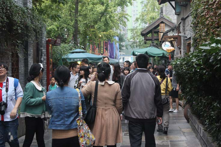 Jinli Pedestrian Street in Wuhou District, Chengdu, China