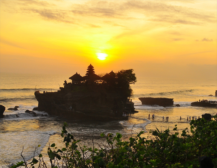 Sunset at Pura Tanah Lot