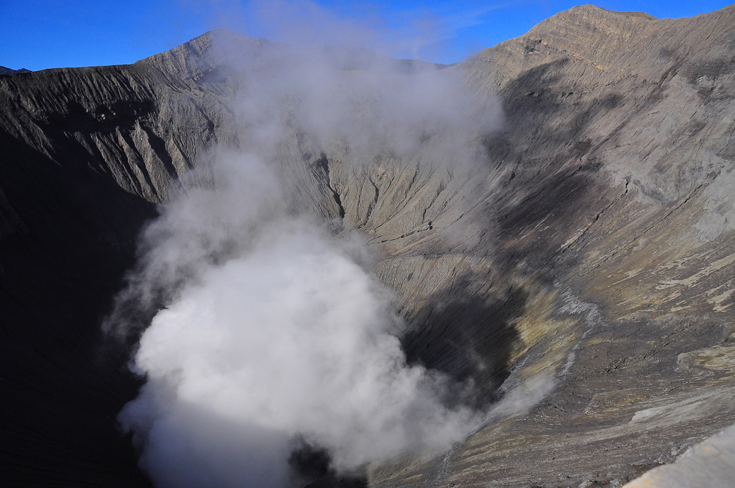 The Crater of Mount Bromo, Surabaya, Indonesia