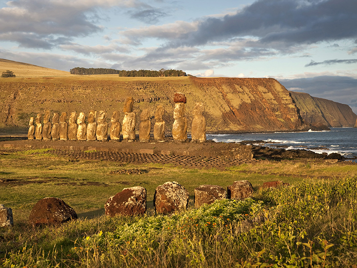 Moai at Tongariki, Easter Island