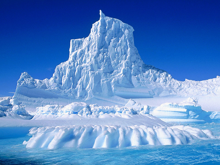 Eroded Iceberg in the Lemaire Channel, Antarctica