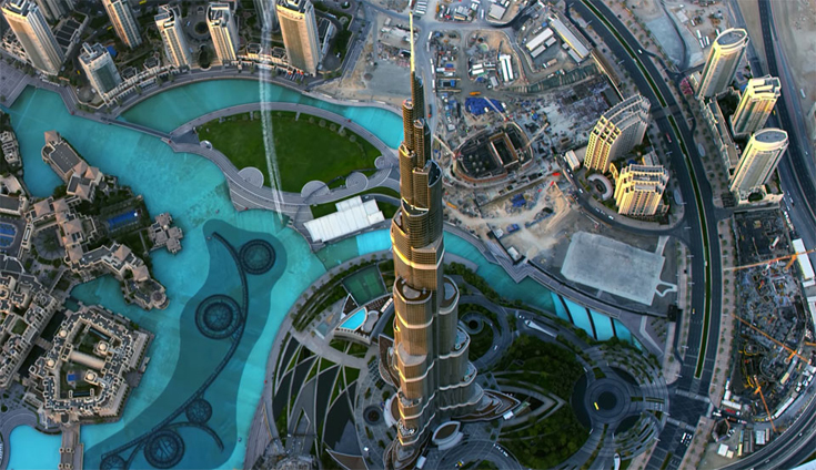 Burj Khalifa, Dubai from the Air